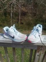 """Nike """"Lunarglide 7"""" Running Shoes Women's Size 9.5 – Gray/Pink/Orange - $18.80"""
