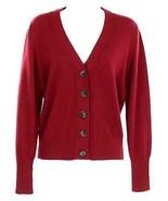 J Crew Women's Everyday Cashmere Cropped Cardigan Sweater M Burgundy K3746 - $82.79