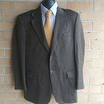 Stafford Traveler Plus 38R 2 Button Brown Twill  Suit Blazer Sports Coat - $32.18