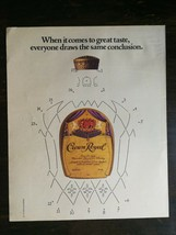 Vintage 1985 Crown Royal Canadian Whiskey Full Page Original Color Ad -721b - $6.64
