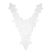 (white)1 PCS Flower Floral Guipure Collar Fake Neckline Lace Trim Embroi... - $14.00