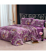 Riho 4-Piece Custom-made 100% Mulberry Silk 19MM Floral Bedding Sets(Ste... - $449.99+