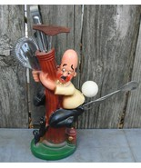 Man Chased By Dog on Fire Hydrant Vintage Bar Set Japan - $45.00