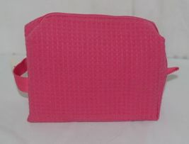 Spa Cific Essentials 5770 Cosmetic Pink Bag Fully Lined Waffle Pattern image 3