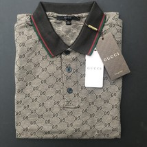 4d26c4b16 Gucci Men  39 s Polo Shirt Brown with GG Monogram Print  Size