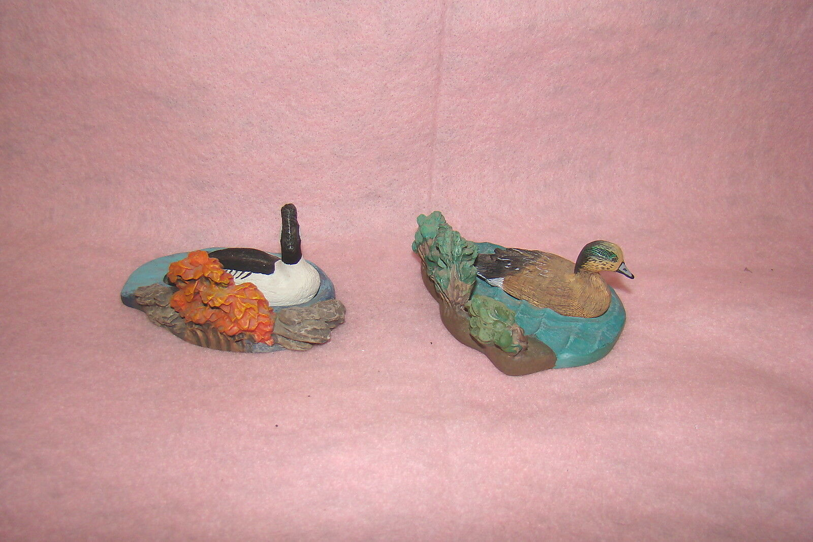 Set of Two Common Goldeneye and American Widgeon Avon Collectible Figurines