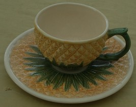 Gorgeous Pineapple Figural Cup & Saucer - MMA - Reproduction of Ivy Hous... - $26.72