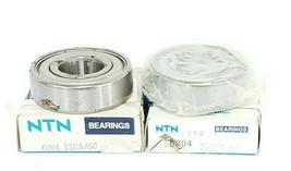 LOT OF 2 NIB NTN BEARING 6204-ZZ-C3/5C BALL BEARINGS SHIELDED 20MM ID 47MM OD image 2
