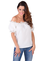 Off the Shoulder Blouse - Oktoberfest / Gypsy / Mediterranean - CREME   , XS-XXL - $24.56+