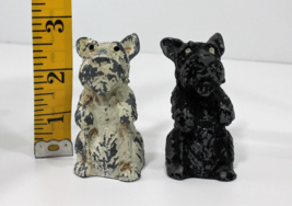Vintage Metal Scottish Terrier Scottie Salt Pepper Shakers - $10.99