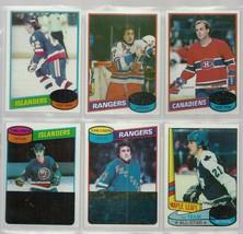 6 TOPPS 1980 HOCKEY cards NRMT ESPOSITO, SALMING, LAFLEUR,   STRANGE BLA... - $6.06