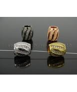 Clear Zircon Gemstone Pave Big Hole European Drum Bracelet Connector Cha... - $1.38+