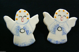 Pretty Cute Hand Crafted Porcelain Singing Angel Earrings - $23.75