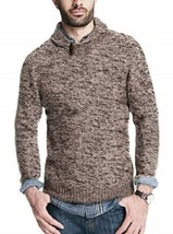 Men's Weatherproof Vintage Shawl Collar Pullover Sweater Natural NEW