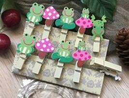 Frog Children's party Favor Gifts,Paper Photo Wooden Clips,Pin Clothespins - $3.20 - $18.00