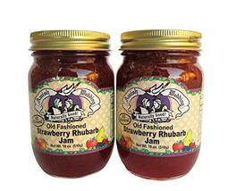 Amish Wedding Foods Old Fashioned Strawberry Rhubarb Jam All Natural 2-1... - $21.86