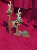 REINDEER CHRISTMAS ORNAMENTS 1 standing, 1 laying (a)  - $3.00