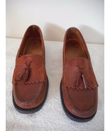 BASS Weejuns Womens Brown Leather Tassel Kiltie Size 8.5 Loafer - $24.74