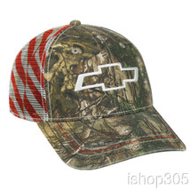 Chevrolet Realtree Mesh Back Patriotic Hat Baseball Cap US Flag Hat Truc... - $13.86