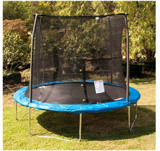 10-Foot Outdoor Trampoline Safety Net Jumping Enclosure Blue Kids Play B... - $325.66