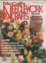 McCall's Needlework & Crafts Magazine Summer 1978 - $2.50