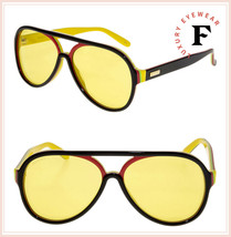 GUCCI 0270 Black Red Yellow Stripe Retro Aviator Unisex Sunglasses GG0270S - $316.80
