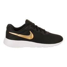 Nike Tanjun (GS) Black Metallic Gold White Big Kids Running Shoes 818381 016 - $44.95