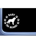 "Baby on Board Saint Bernard L495 6"" Sticker decal - $4.99"