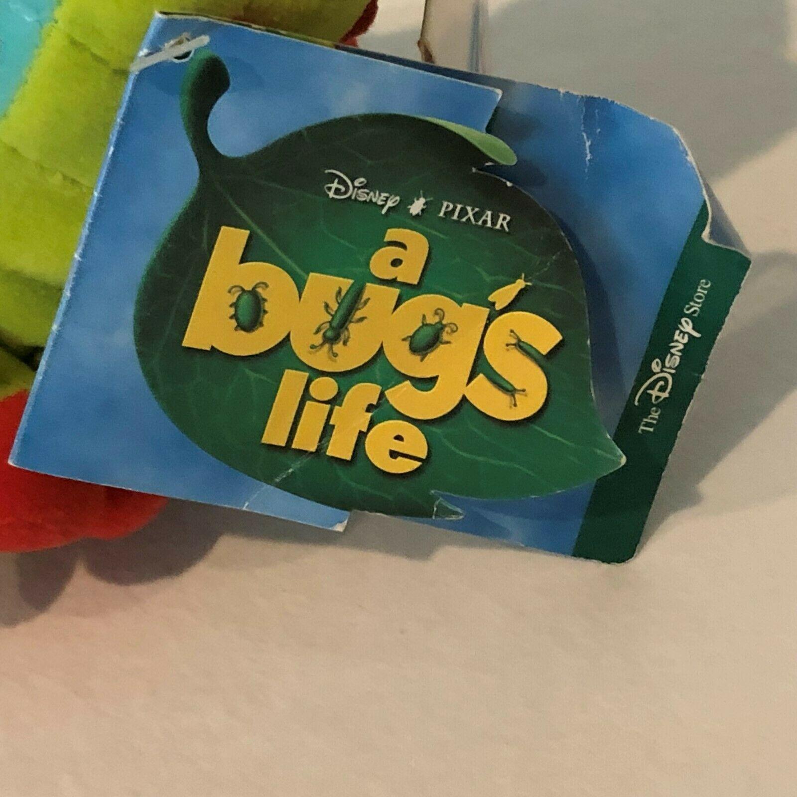 "Disney Store A Bugs Life Heimlich Caterpillar Beanie Plush Stuffed Animal 8"" image 11"
