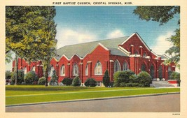 CRYSTAL SPRINGS, Mississippi MI   FIRST BAPTIST CHURCH  Copiah County   ... - $5.85