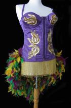 Pick Size-Purple Mardi Gras Moulin Burlesque Pin Up Carnival Costume Fea... - $229.99