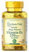 5X Healthy Immune System Mega-Potency Vitamin D3 10000 IU 250 mcg 1000 s... - $75.66