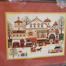 Victorian Shoppes Cross Stitch Kit 3528 Dimensions 1982 Town Street Buil... - $34.99