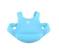 Waterproof Comfortable The Adjustable Shoulder-Mounted Baby Bib/Pinafore(Blue) image 2