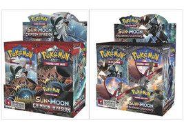 Sun and Moon Crimson Invasion + Burning Shadows Booster Boxes Pokemon TCG Sealed - $209.99