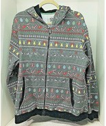 Seven Oaks XXL Christmas Holiday Hoodie Jacket Bells Candy Canes Good Sh... - $28.22