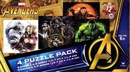 Marvel Infinity Mar Avengers - 4 Puzzle Pack - 12 Piece Jigsaw Puzzle (S... - $8.50