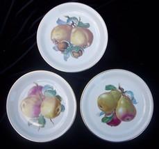 3 Rosenthal Harvest Salad Plates Bavaria Selb Plossberg Fruit Pear Apple... - $21.38