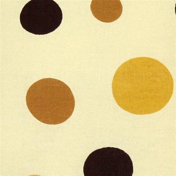 Pillow Decor - Polka Dot Confetti Yellow Cotton Throw Pillow 17X17