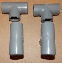 "PVC 1/2"" Tees Glue Slip Gray Spears PVC USA SCH 80 Heavy Duty F439 4ea C... - $7.49"