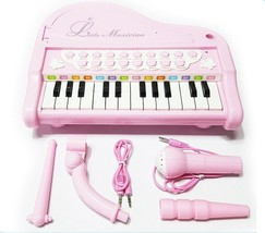 World Distribution Kids Grand Piano with Microphone Melody Musical Toy (Pink) image 2