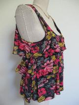 Urban Outfitters Pins and Needles Tank Top S Tiered Ruffle Soft Rayon Knit Zip image 4