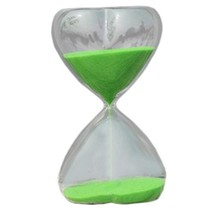 George Jimmy 15 Minute Heart Shape Countdown Timer Hourglass Sand Clock Timers-G - $18.75