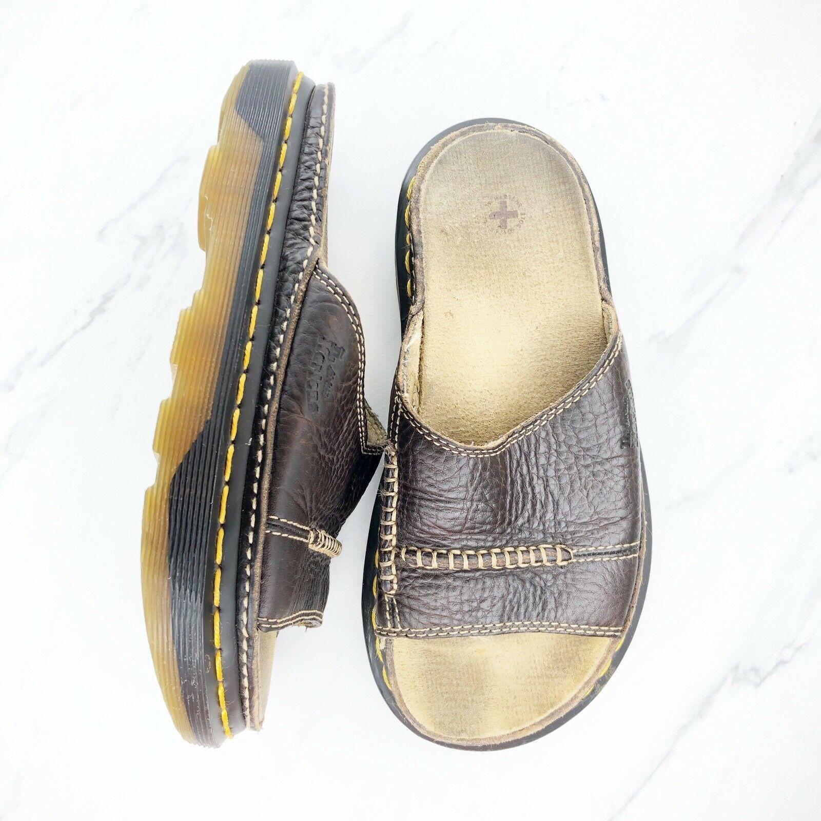 Dr. Martens Women's 6 M Brown Leather Sandals Slides Shoes