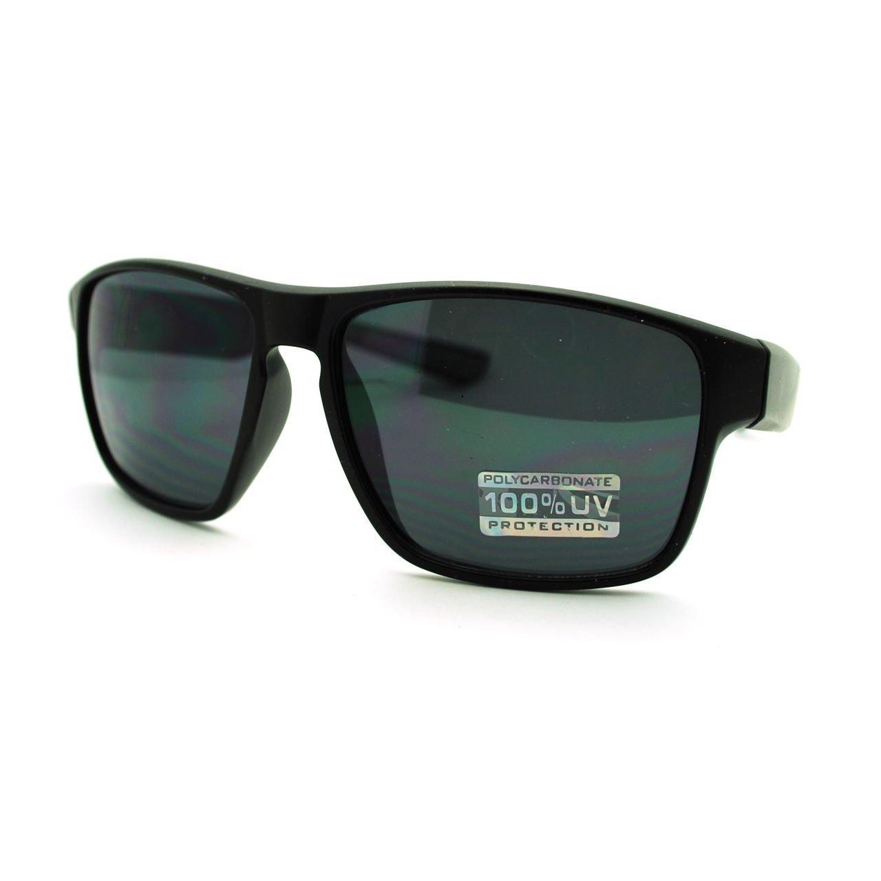 Mens Matte Agent Rectangular Plastic Sport Warp Sunglasses Tortoise