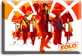 A STAR WARS HAN SOLO STORY CHEWBACCA 4 GANG LIGHT SWITCH WALL PLATE ROOM... - $17.99