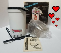 Proctor Silex Popcorn Pumper Hot Air Popper Model H7340 WHITE FAST SHIP LK - $47.21
