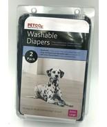 Petco Washable Dog Diapers XL 2 Pack Denim Blue 50-90 lb  - $18.99