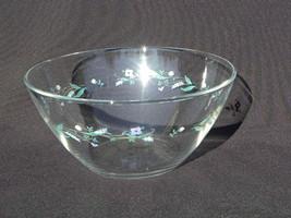 Arcoroc France Coupe Shape Glass Serving or Salad Bowl Purple Blue Flowe... - $4.99