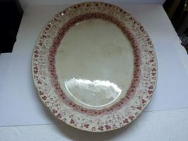 Antique 1900 English Art Nouveau Glazed Pottery Serving Platter Toronto ... - $76.47